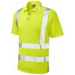 Leo Workwear P09-Y BROADSANDS Hi Vis Coolviz Ultra Polo Shirt Yellow